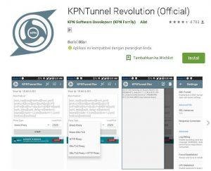 cara merubah kuota maxstream menjadi kuota internet dengan aplikasi kpn tunnel revolution