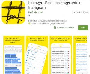 Leetags - Best Hashtags untuk Instagram