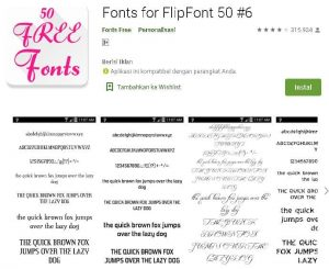 gratis 50 font android
