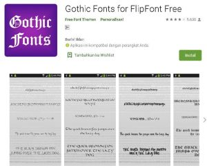 font gothic android