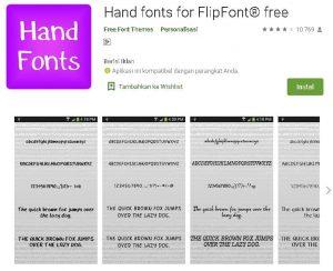 aplikasi font tulisan tangan