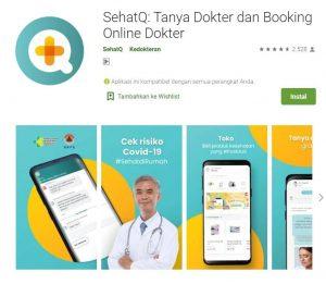 aplikasi cari dokter terdekat dari sehatq
