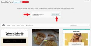 cara upload tema wordpress